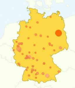 Besucher Karte Deutschland