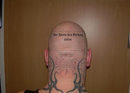 Glatzentattoo Tatowierung Kahlkopf Glatze Baldness