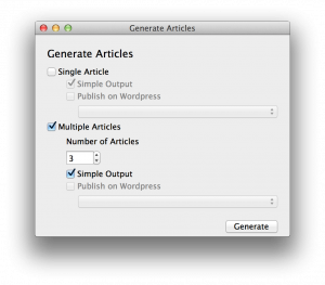 Generate Articles