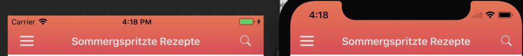 iPhone X uinavigationbar background image scalled