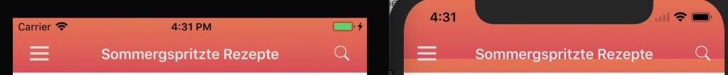 iPhone X uinavigationbar background image too small